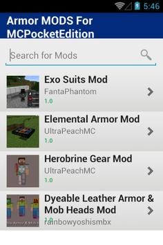 Armor MODS For MCPocketEdition screenshot 1