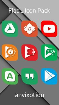 Flat L Icon Pack poster