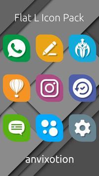 Flat L Icon Pack screenshot 2
