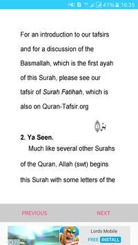 Surah Yaseen Mp3 English apk screenshot