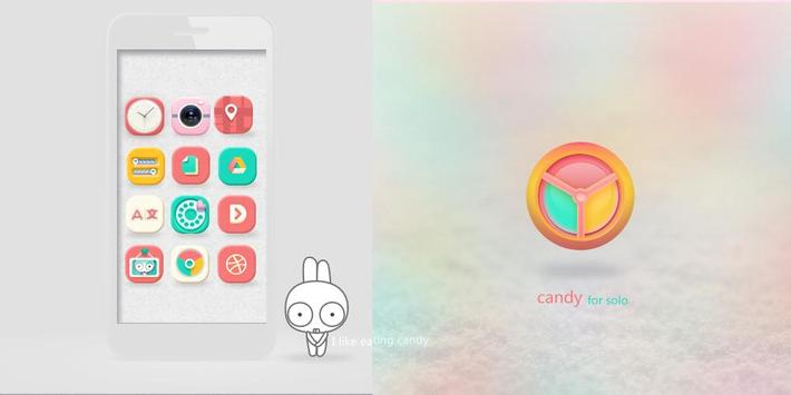 Candy Solo Theme & Icons poster