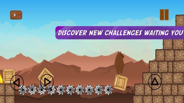 Grizz The Bear in Super Runner Bare Bear Adventure screenshot 4