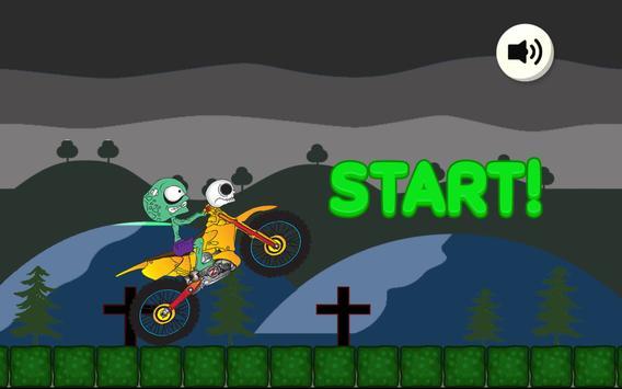 Biker Zombie poster