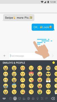 Keyboard for emoji one poster