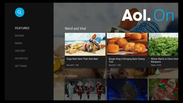 AOL Video for Android TV screenshot 1