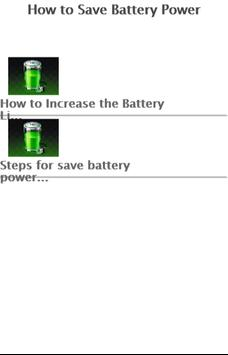 How to Save Battery Power apk screenshot