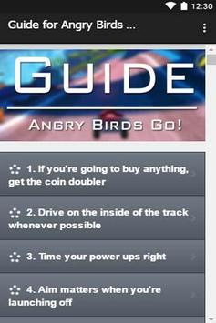 Guide for Angry Birds Go! poster