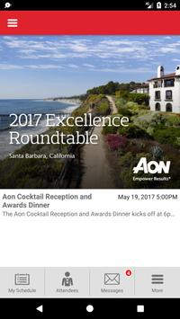 Aon Risk Solutions Events poster