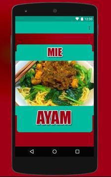 Mie Ayam Pilihan Resep poster