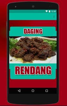 Resep Rendang Daging poster