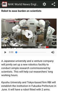 NHK World News English apk スクリーンショット
