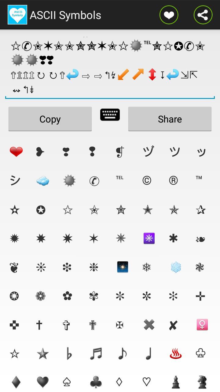 Ascii Symbols Emoji Emoticon For Android Apk Download
