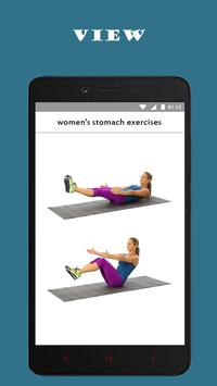 best women's stomach exercises poster