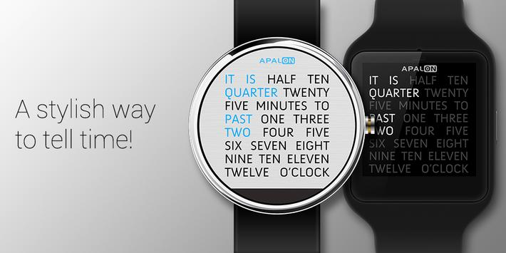 Wordy Watch Face poster