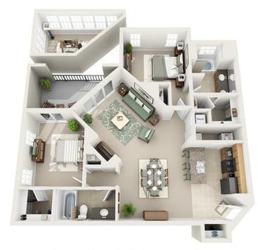 Apartment Floor plan poster