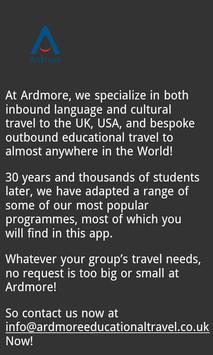 Ardmore Educational Travel screenshot 4