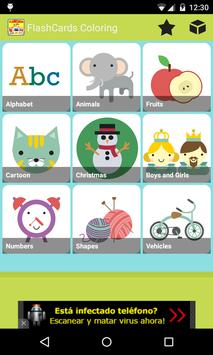 FlashCards Coloring for Kids poster