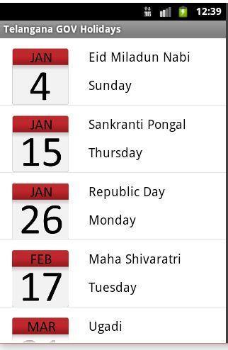 Andhra Pradesh GOV Holidays for Android - APK Download