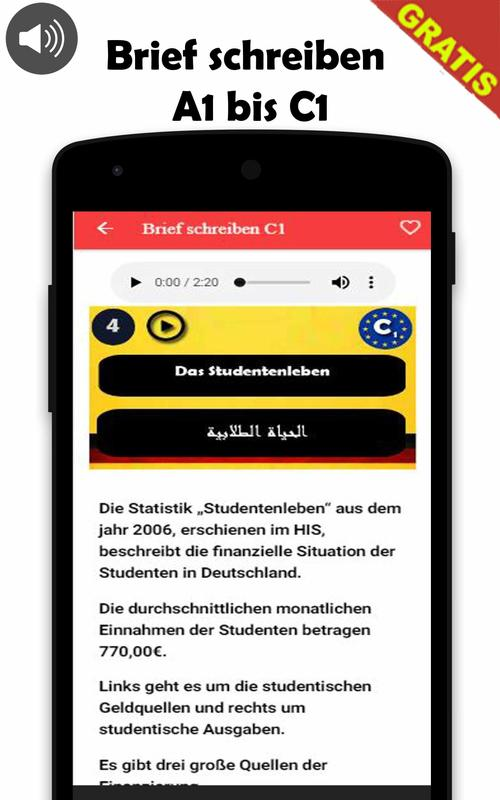 Brief Schreiben A1 Bis C1 For Android Apk Download