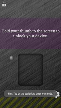Fingerprint Lockscreen Sim screenshot 2