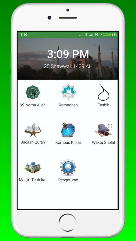 Kiblat kompas (القبلة) for android apk download.