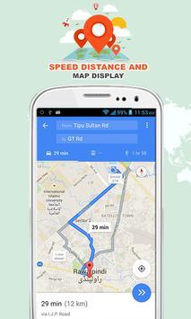 Speed Distance & Map Display screenshot 3