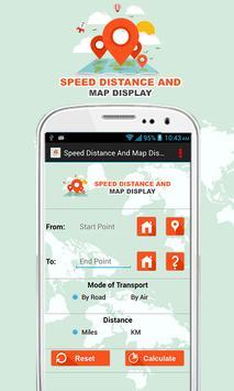 Speed Distance & Map Display screenshot 1