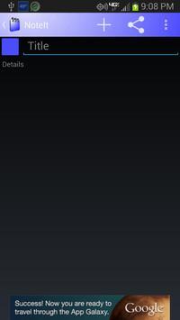 NoteIt screenshot 1