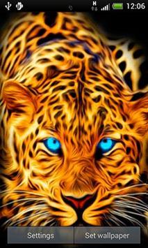 Blue Eyed Leopard LWP apk screenshot