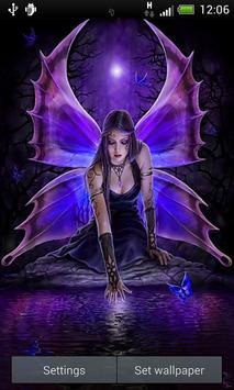 Gothic Fairy Live Wallpaper Poster Apk Screenshot