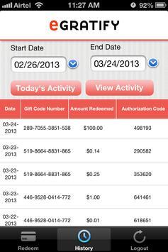 eGratify Merchants screenshot 1