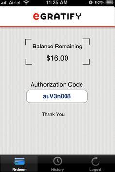 eGratify Merchants screenshot 2