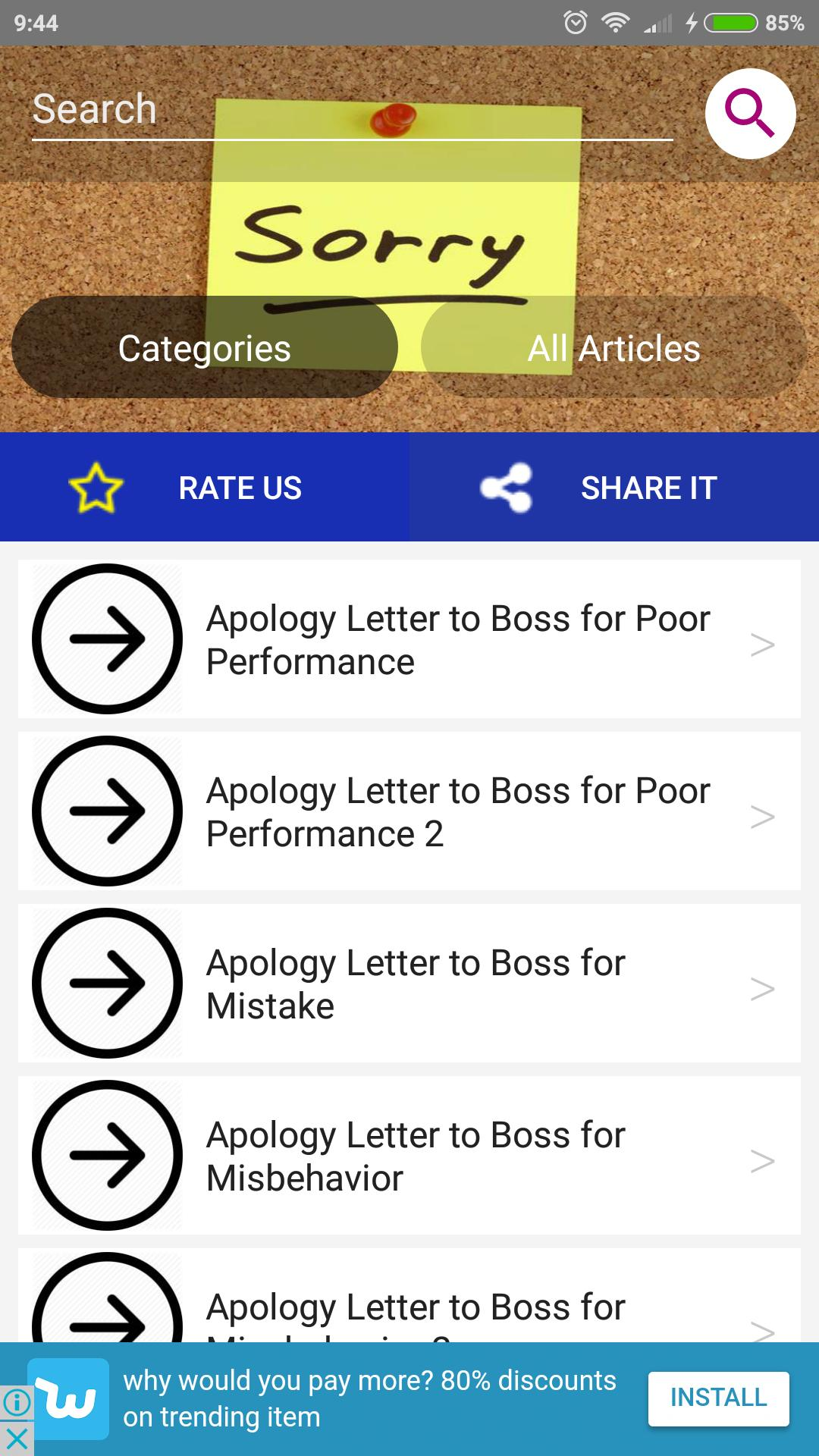 Apology Letter for Android - APK Download