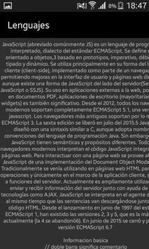 Cheetsheet lenguajes apk screenshot