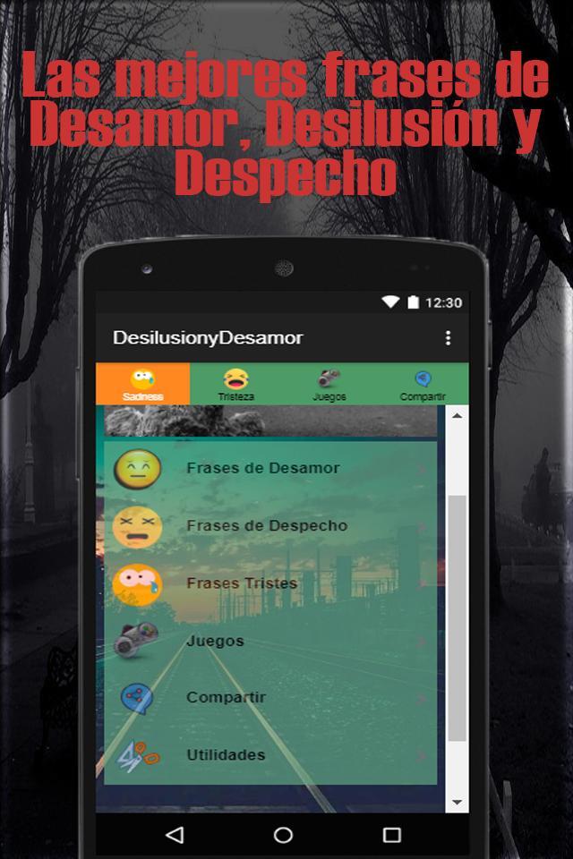 Frases Tristes De Desamor Desilusión Y Despecho Für Android