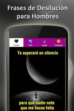 Frases de desilucion de amor apk screenshot
