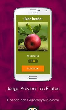 Juego Adivinar las Frutas screenshot 13