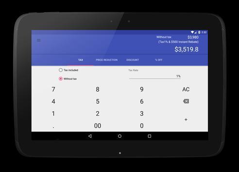 Discount Calculator apk screenshot