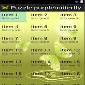 Puzzle Purple Butterfly icon