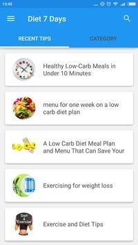 Diet 7 Days Plan poster
