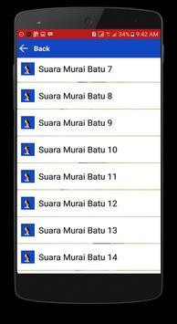 Aplikasi Kicau Murai Batu Offline screenshot 1