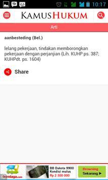 Kamus Hukum 10.000 apk screenshot