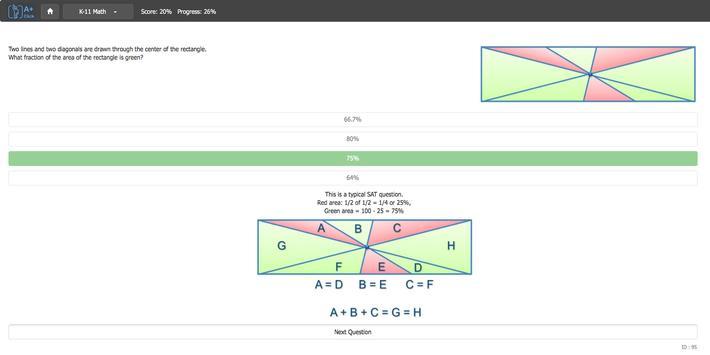 Aplusclick Math K11 apk screenshot
