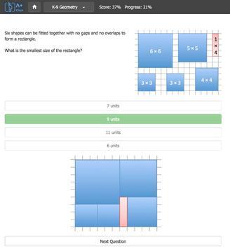Aplusclick K9 Math apk screenshot