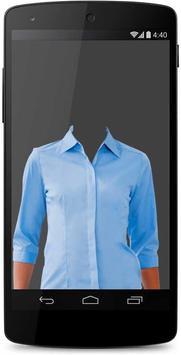Woman Shirt Photo Suit Montage poster