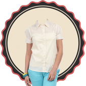 Woman Shirt Photo Suit icon