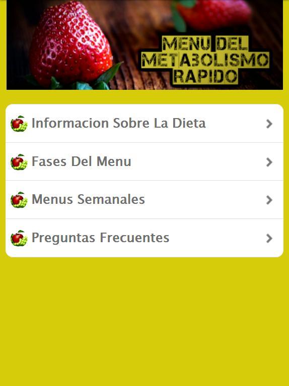 Metabolismo Acelerado - Dieta for Android - APK Download
