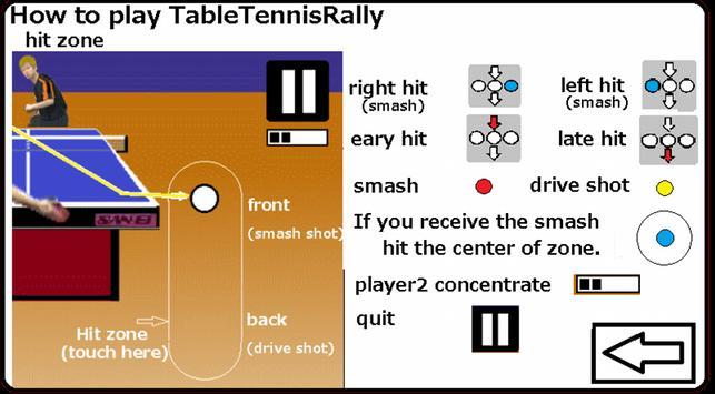 TableTennisRally LITE apk screenshot