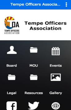 Tempe Officers Association poster