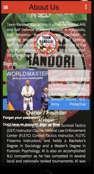 Team Randori Martial Arts poster